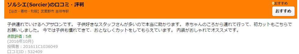 吉祥寺 美容室 口コミ