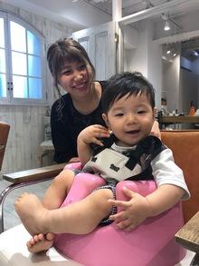 吉祥寺で赤ちゃん連れ・子連れが可能な美容院 Hair Salon Sorcier レセプション山崎のブログ「初めてのカットはSorcierへ」