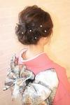 着付けができる美容室Hair Salon Sorcier ERIのブログ「訪問着も変わり結びでおしゃれに☆」