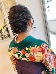 袴☆飾りなしアップスタイル